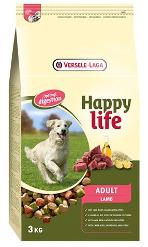 Adult with Lamb Abwechslungsreiches Futter mit Lamm - vitaler erwachsener Hund  Happy life Adult Lamb ist ein leckeres und abwechslungsreiches Futter mit Lamm, das alle Nährstoffe für einen vitalen er